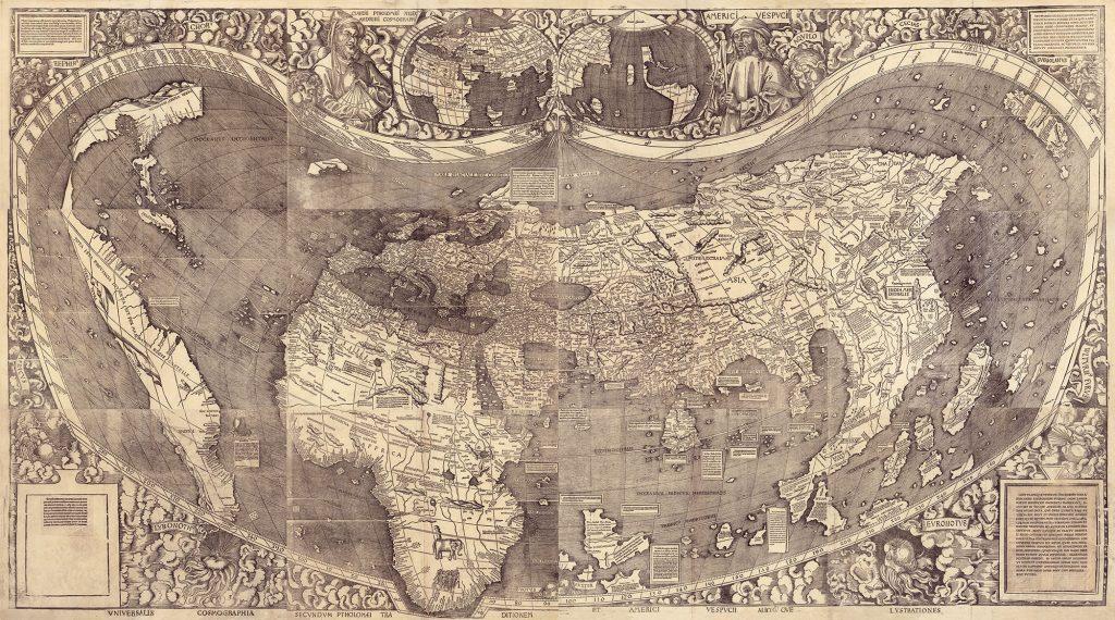 Mapa de Martin Waldseemüller año 1508